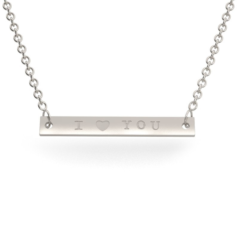 Collar barrita de plata
