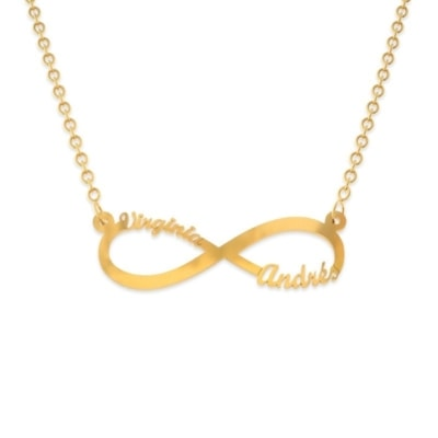 Collar infinito de oro con nombre