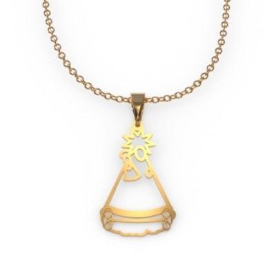 Medalla silueta de oro