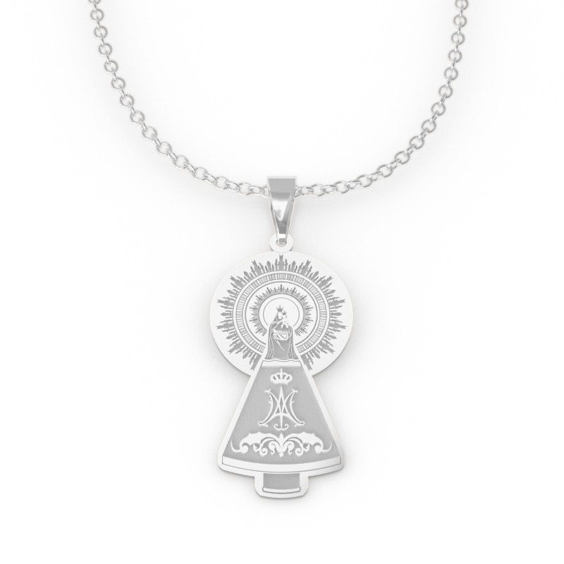 Medalla silueta de plata