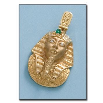 CABEZA EGIPCIA ORO 18KL DE 30X41MM